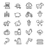 Farm icon vector Stock Images