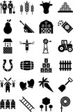 Farm icons Stock Images