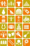 Farm icons. Some icons related with farm Stock Photos
