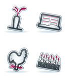 Farm Icons Royalty Free Stock Photography