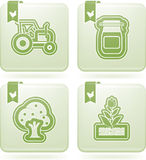 Farm Icons Stock Photography