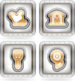 Farm Icons Royalty Free Stock Image