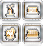 Farm Icons Royalty Free Stock Photos