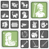 Farm icons Royalty Free Stock Photo