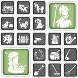 Farm icons Royalty Free Stock Photo