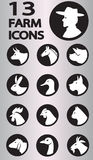 Farm icons collection Royalty Free Stock Images