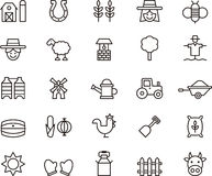 Farm icons Royalty Free Stock Images