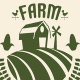 Farm icons design Stock Image
