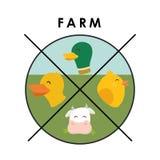 Farm icons design Royalty Free Stock Photo
