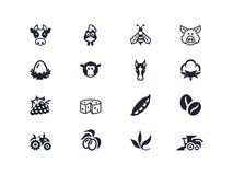 Farm icons 2. Lyra series Stock Images