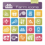 Farm icons part 1 Royalty Free Stock Images