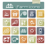 Farm icons part 1 Stock Photography