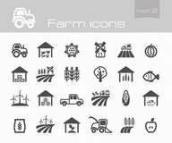 Farm icons part 2. Set eps 10 Royalty Free Stock Photography