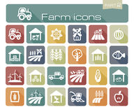 Farm icons part 2 Stock Images