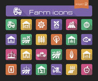 Farm icons part 2 Stock Photography