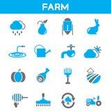 Farm icons Stock Photos
