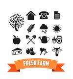 Farm Icons Set Stock Image