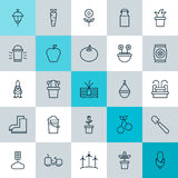 Farm Icons Set. Collection Of Maize, Root, Jug And Other Elements. Also Includes Symbols Such As Carrot, Cherry Royalty Free Stock Photography