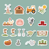 Farm Icons set Royalty Free Stock Photography