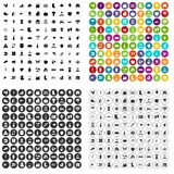 100 farm icons set variant. 100 farm icons set in 4 variant for any web design isolated on white stock illustration