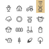 Farm icons set. Stock Images