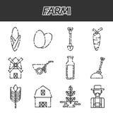 Farm icons set. Vector illustration EPS 10 Royalty Free Stock Photo