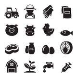 Farm icons set Royalty Free Stock Photos
