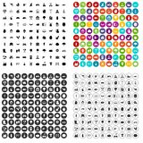 100 farm icons set vector variant. 100 farm icons set vector in 4 variant for any web design isolated on white Royalty Free Stock Images