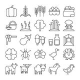Farm icons set. Royalty Free Stock Images