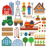 Farm icons vector set. Royalty Free Stock Photo