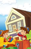 The farm illustration for kids - many different elements Royalty Free Stock Image