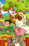 The farm illustration for kids - many different elements Royalty Free Stock Photos