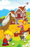 The farm illustration for kids - many different elements Stock Photography