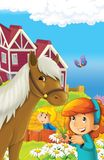 The farm illustration for kids - many different elements Stock Image