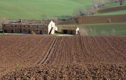 Farm In Val Of Recanati, Italy Royalty Free Stock Photos