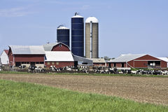 Farm In Wisconsin Royalty Free Stock Photography