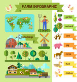Farm infographic Royalty Free Stock Photography