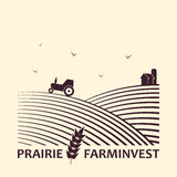 Farm investment business logo. Stock Images