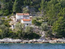 Farm on the island Korcula Stock Photo