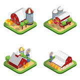 Farm Isometric  Compositions Royalty Free Stock Photos