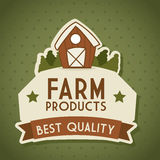 Farm label Stock Photography