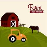 Farm label Stock Photo