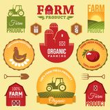 Farm labels Royalty Free Stock Image