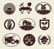 Farm labels set. Vector Royalty Free Stock Images