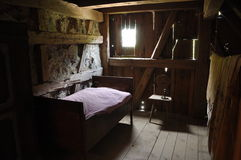 Farm labourer's room Stock Photo