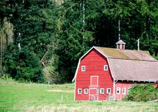 Farm Land. Old Barn in the country Stock Photos