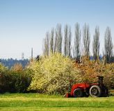 Farm Land. Old Tractor on a farm Royalty Free Stock Photography