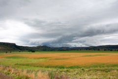 Farm. Land with clouds in south africa Stock Photos