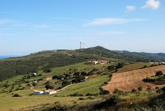 Farm land near Casares, Spain. Royalty Free Stock Photo