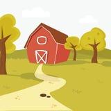Farm landscape. Cute farm landscape.  illustration Royalty Free Stock Images